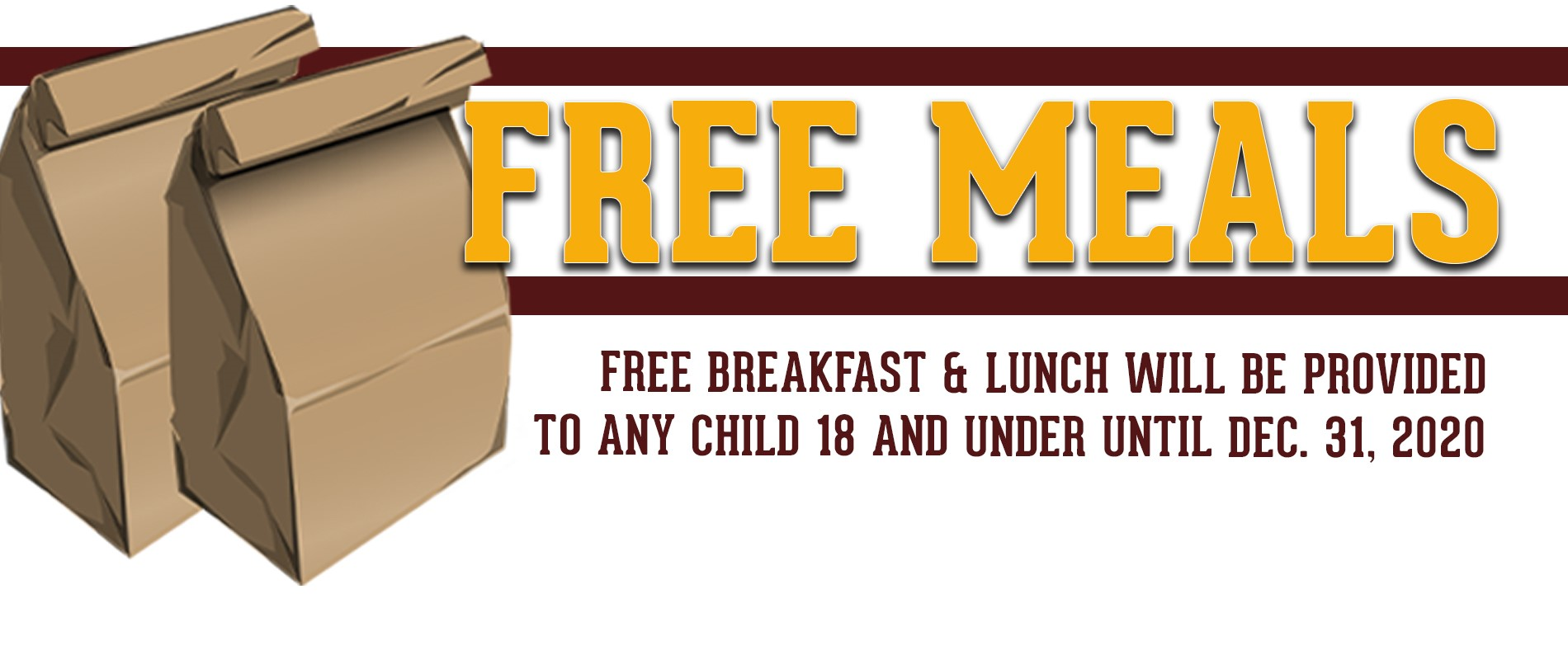 Free Meals click for more information