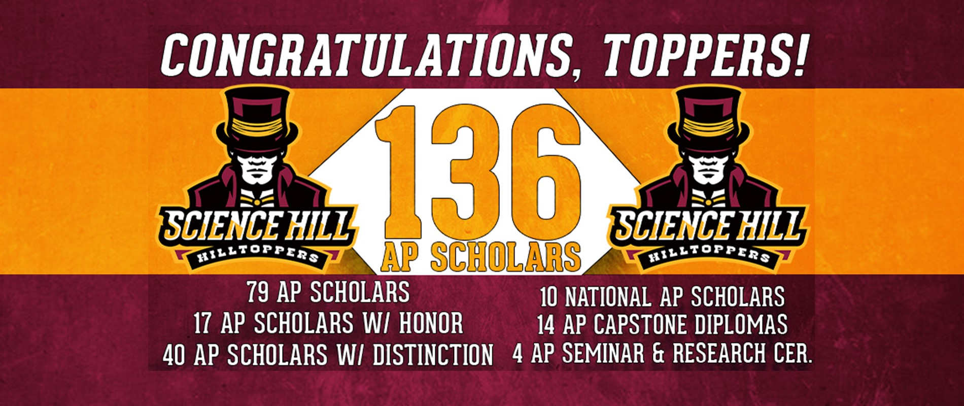 Science Hill has 136 AP Scholars